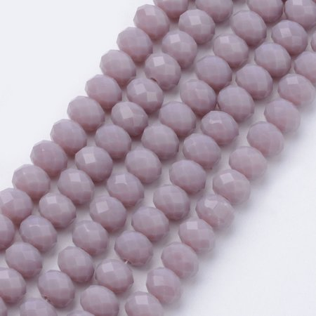 80 pieces Faceted Beads 4x3mm Vintage Purple