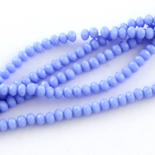 50 pieces Faceted Beads 6x4mm Lilac