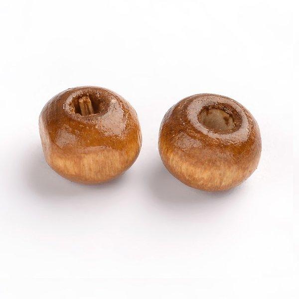 100 stuks Houten Kralen 6mm Natural Bruin