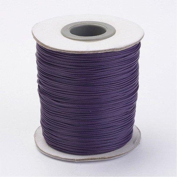 5 meter Waxed Cord 0.8mm Deep Purple