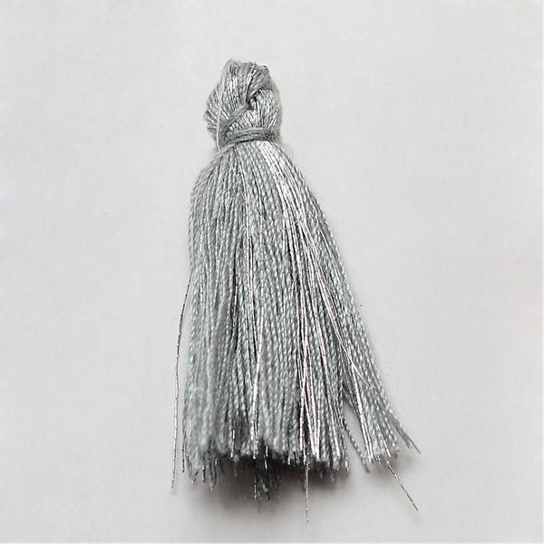 Tassel Gray and Silver 30mm, 5 pieces