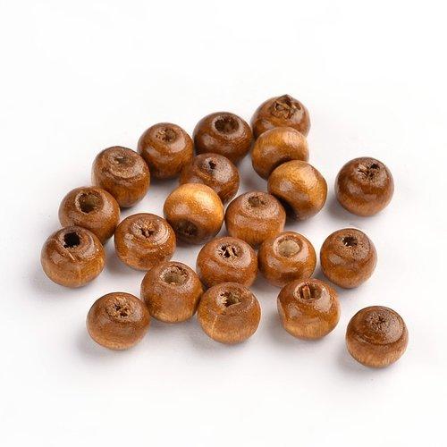 100 stuks Houten Kralen 6mm Bruin