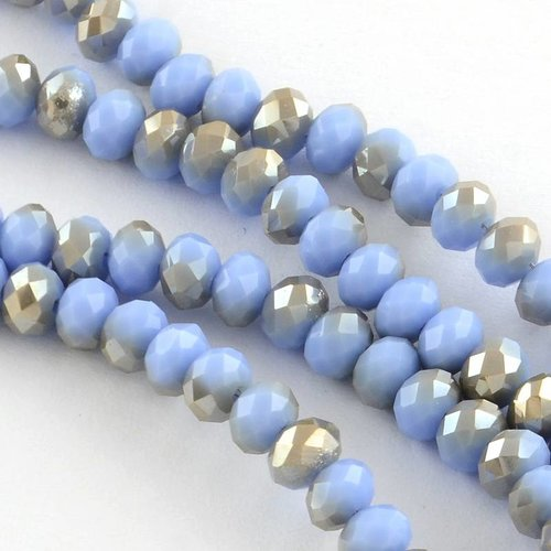 Faceted Beads Lavender Shine 4x3mm, 80 pieces