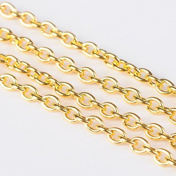 Jewelry Chain Gold 3mm Nickel Free, 1 meter