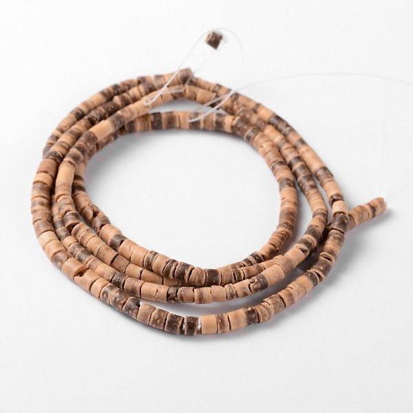Streng 208 stuks Natuurlijke Kokos Kralen Camel 3x2-5mm