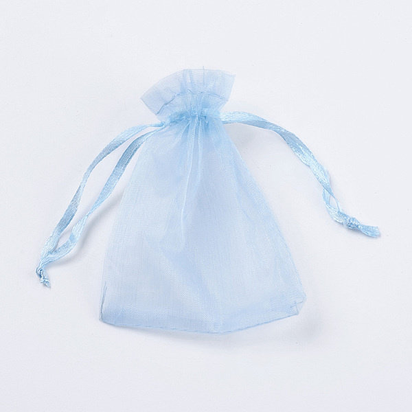 100 pieces Organza Bags Sky Blue 9x7cm