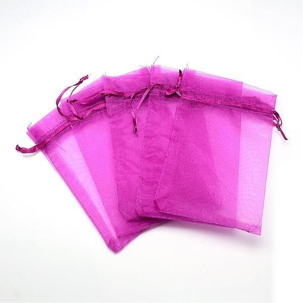 100 pieces Organza Bags Fuchsia 9x7cm