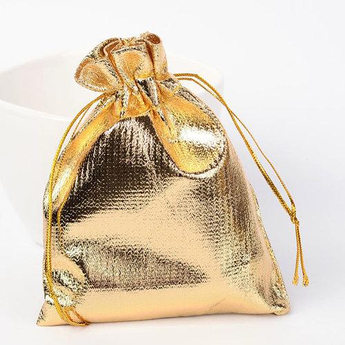 10 stuks Cadeau Zakjes  Metallic Goud 9x7cm