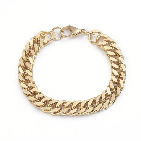 Stainless Steel Chunky Chain 10mm Bracelet with Clasp 22cm