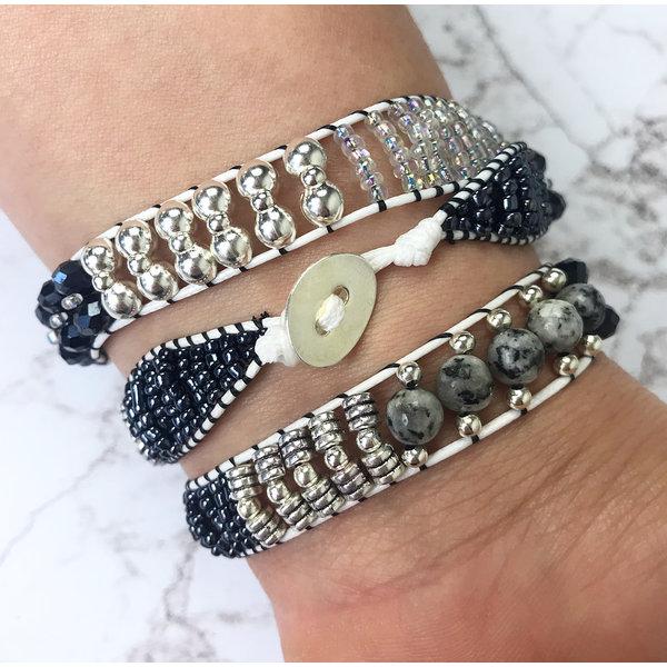 Zelf Een Wrap Armband Maken - Zwart Met Wit