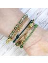 Setje Chique Armbandjes met Groen en Goud