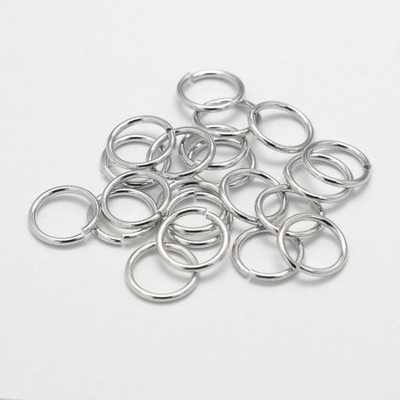 50 pieces Jumpring Silver 6x1mm