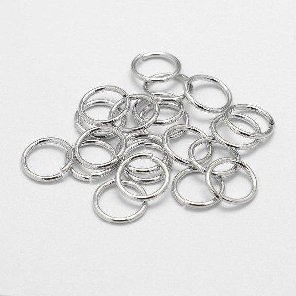 Jumpringen Zilver Kleur 6x1mm, 50 stuks