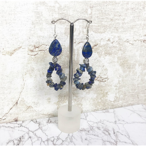 Make Your Own Gemstone Earrings with Lapis Lazuli