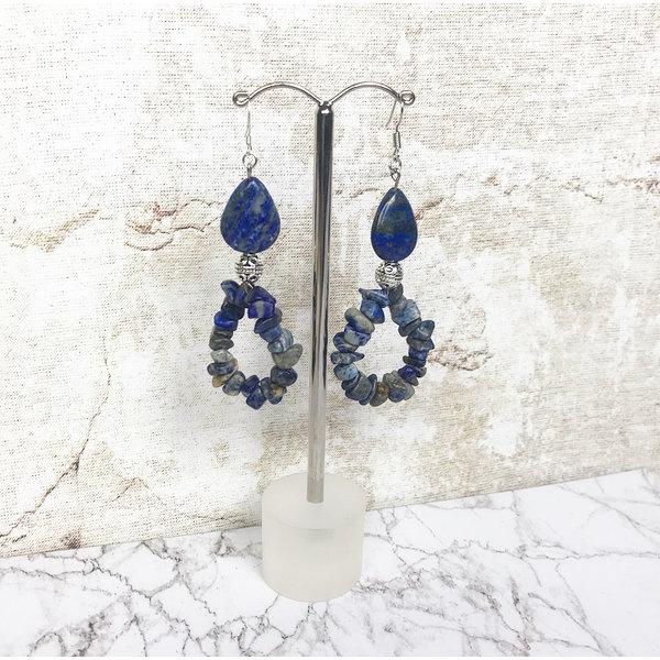 Edelsteen Oorbellen Maken met Lapis Lazuli