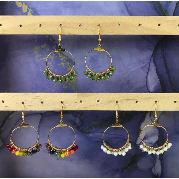 Make your own Rainbow Hoop Earrings
