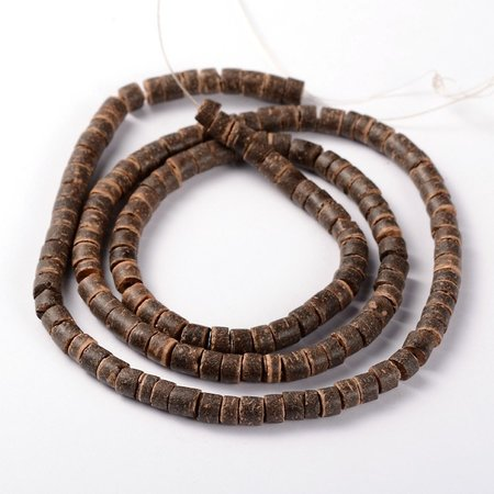 Strand 148 pieces Natural Coconut Beads 6x3-6mm