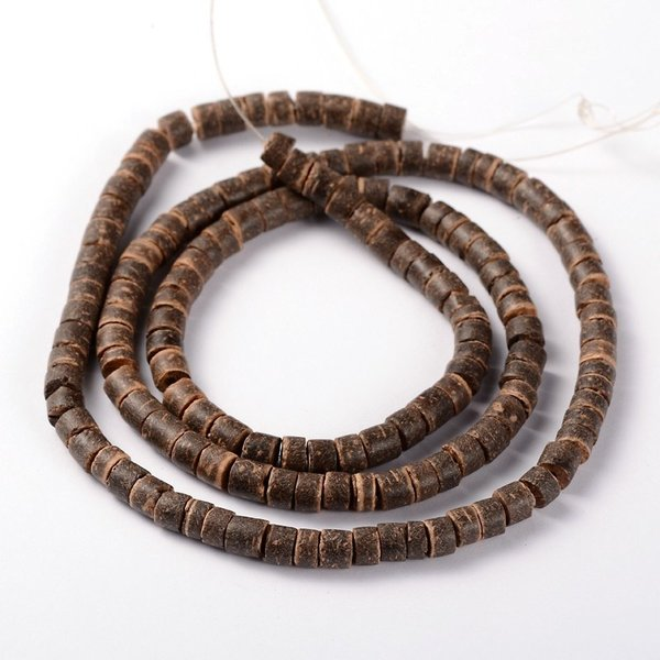 Strand 148 pieces Natural Coconut Beads Brown 6x3-6mm