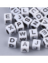 Complete Alphabet Letter Beads White 6mm, 400 pieces