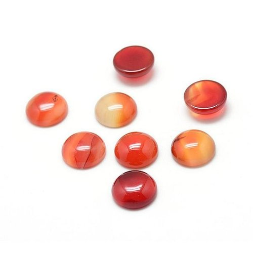 Natural Dyed Carnelian Gemstone Cabochon 10mm