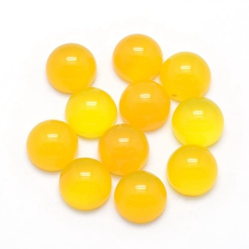Natural Yellow Agate Gemstone Cabochon 10mm