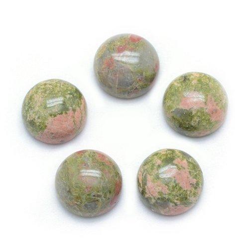 Natural Unakite Gemstone Cabochon 10mm