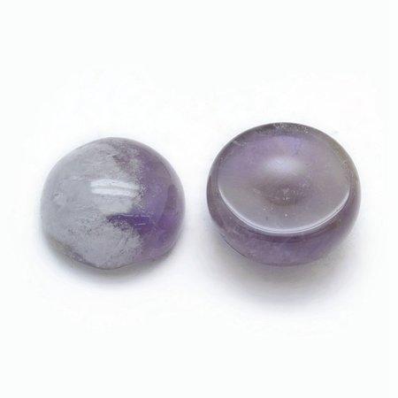 Natural Amethyst Gemstone Cabochon 10mm