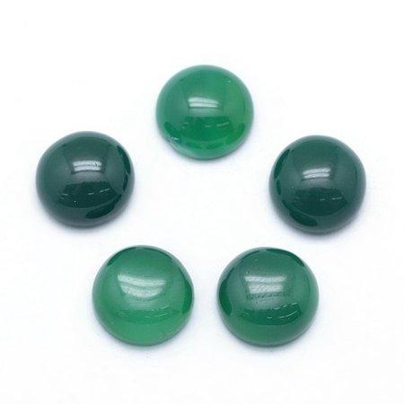 Green Onyx Agate Gemstone Cabochon 10mm