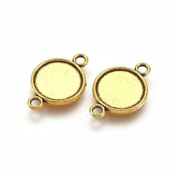 Connector Gold 18x12mm fits 10mm Cabochon, 8 pieces