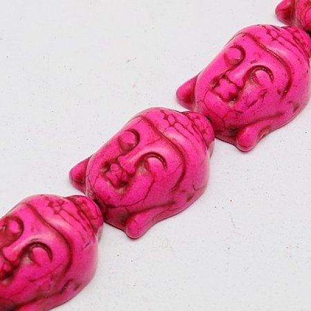 3 stuks Buddha Kraal Groot Roze 29x20mm