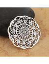 3 pieces Flower Connector Silver 31x31mm
