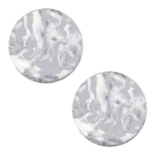 Polaris Cabochon Flat 20mm Grey Pearl