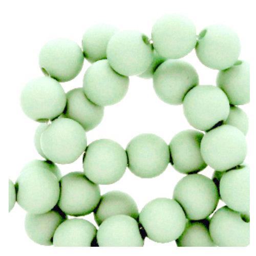 200 pieces Matte Mint Green Acrylic Beads 4mm