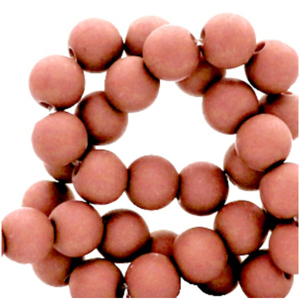 100 pieces Matte Vintage Pink Acrylic Beads 6mm