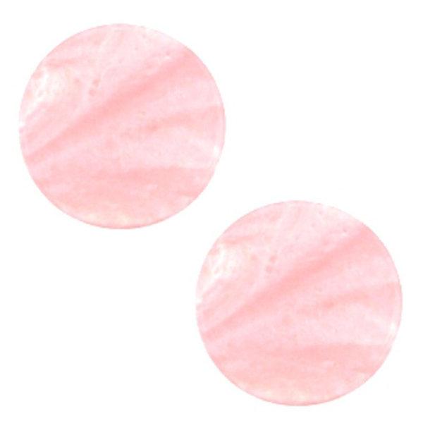 Polaris Cabochon Plat 20mm Pastel Roze