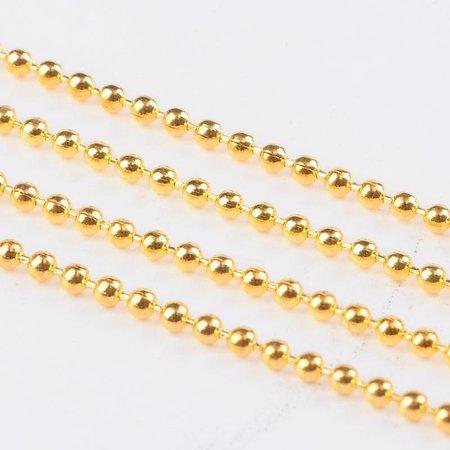 3 meter Ballchain Gold 3.2mm