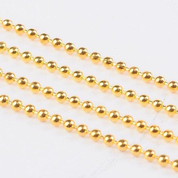 Ballchain Gold 3.2mm, 3 meter