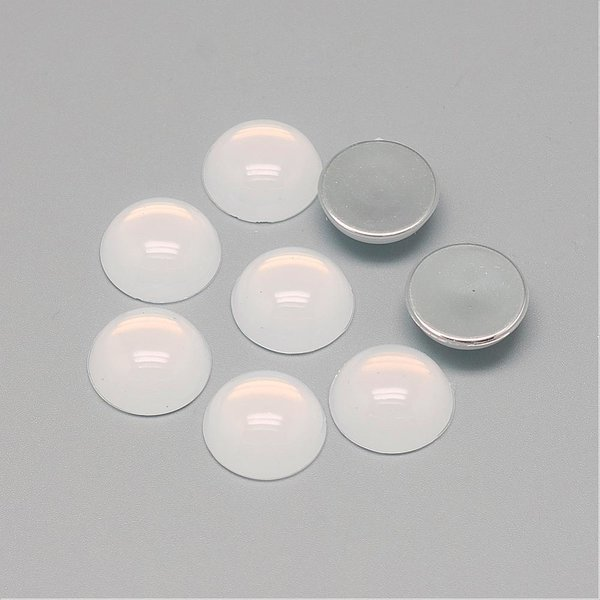 Cabochon Acrylic 20mm White