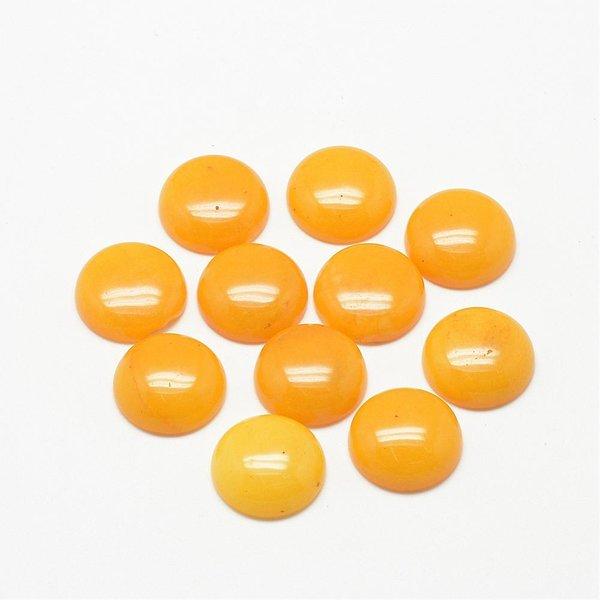 Natural Jade Gemstone Cabochon Yellow 20mm