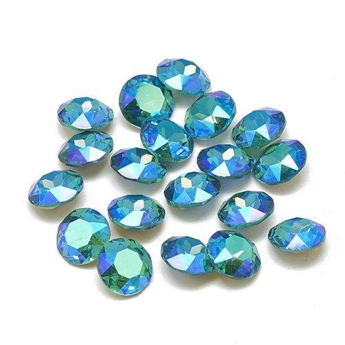 Puntsteen Mermaid Blue 6mm