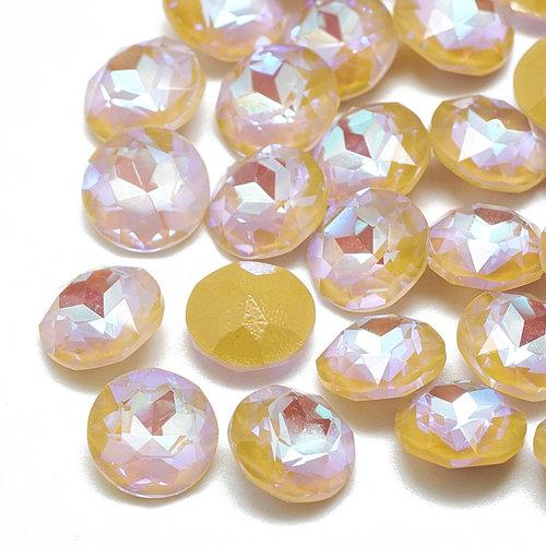 Point Stone Pink Orange 6mm