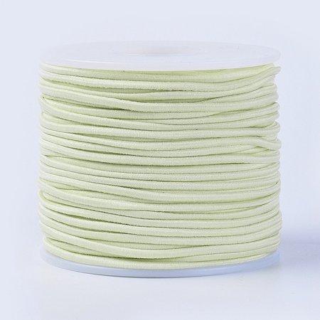 Elastiek 2mm Pastel Geel, 1 meter