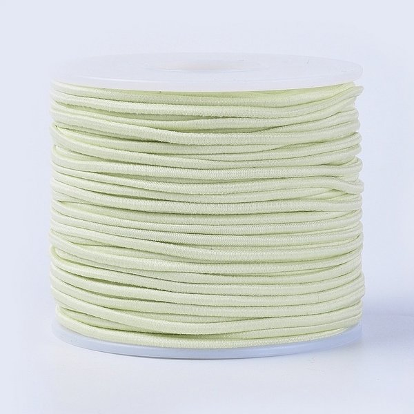 Elastic 2mm Pastel Yellow, 1 meter