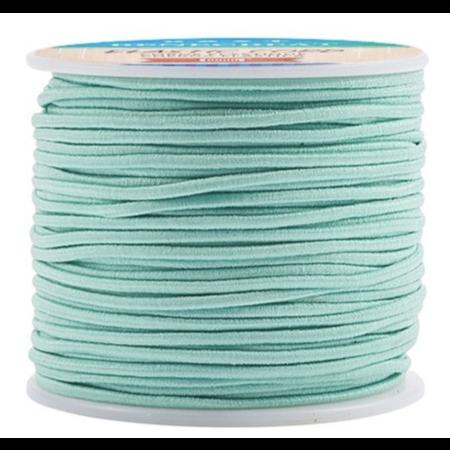 Elastiek 2mm Turquoise, 1 meter