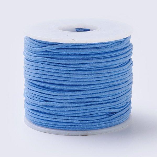 Elastiek 2mm Blauw, 1 meter
