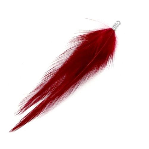 8 stuks Veertje Bedel Pluche 8cm Ruby Red