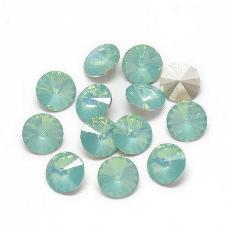 Rivoli Puntsteen 12mm Aqua Groen