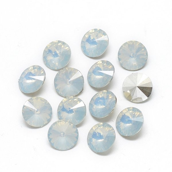 Rivoli Puntsteen 12mm Diamond Wit
