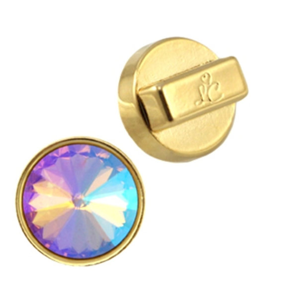 DQ Slider Golden for 12mm Rivoli Point Stone, 3 pieces
