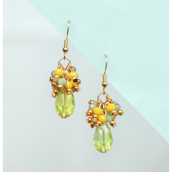 Colorful Earrings with Drop Beads